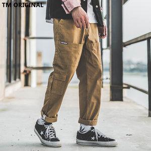 TM余文乐多口袋宽松工装裤男潮牌欧美街头潮流直筒休闲<span class=H>裤子</span>哈伦裤
