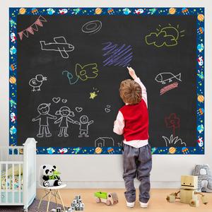 家用黑板贴白板贴可擦写儿童教学涂鸦绿板贴自粘可移除<span class=H>墙贴</span>纸墙膜