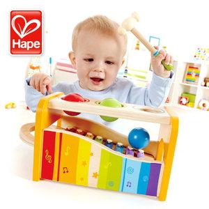 <span class=H>Hape</span>早旋律敲琴台八音木盒宝益智早教音乐玩具<span class=H>手敲琴</span>宝宝周岁礼物