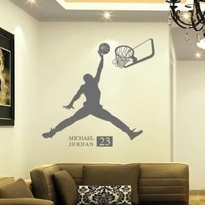 人物墙贴画篮球运动NBA名星乔丹<span class=H>墙贴纸</span>宿舍卧室创意励志墙壁贴纸