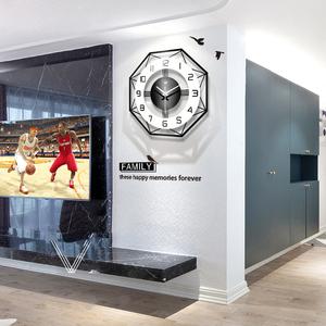 领40元券购买现代简约钟表挂钟客厅个性创意时尚北欧时钟家用表大气静音石英钟