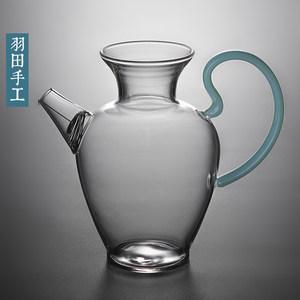 羽田 <span class=H>日式</span>茶壶透明玻璃花瓶壶 家用简易<span class=H>过滤</span>泡<span class=H>茶器</span>耐高温玻璃壶