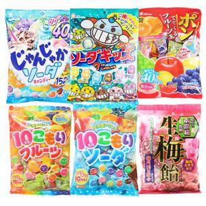 日本进口lion狮王7味<span class=H>水果</span>糖 8味碳酸糖 儿童什锦护齿<span class=H>糖果</span>3袋包邮