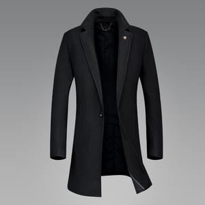 2正品秋冬款高品质男士外套中长款风衣男式休闲商务羊毛呢子大衣