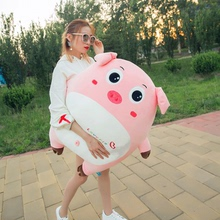 Pig stuffed toys with sleeping dolls to accompany you to sleep pillow, doll cute, super sprouting girl lazy person South Korea