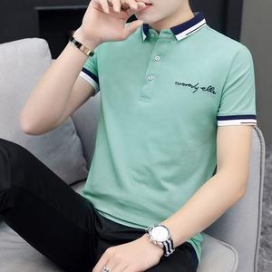 男t恤polo衫短袖翻领男装体恤2019新款纯棉半袖上衣休闲夏季衣服