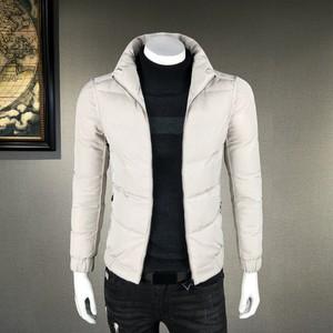 男士冬季<span class=H>外套</span>羽绒棉服男潮流保暖修身立领夹克青年简约韩版男棉衣