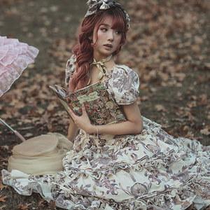 维多利亚花园SP+古典玩偶维多利亚花园lolita<span class=H>连衣裙</span>现货