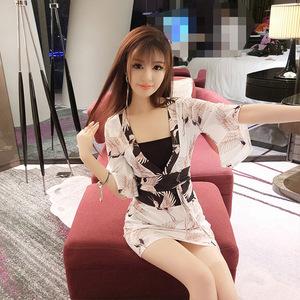 夜店性感女装2018夏装新款夜场裙子韩版印花时尚显瘦气质连衣裙潮