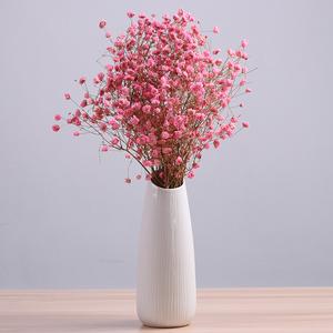 简约现代白瓷花瓶摆件<span class=H>家居</span>客厅桌面干花满天星插花花器水培小清新