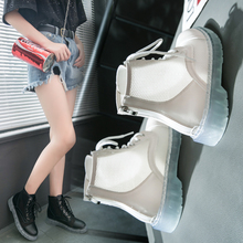 White High-Uppers Female 2019 New Summer Air-permeable Martin Boots Net Red British Wind Comfortable Hollow Casual Shoes Female