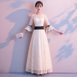 <span class=H>晚礼服</span>女2018新款长款宴会气质高贵优雅年会主持人连衣裙修身显瘦