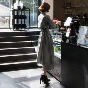 2018秋装大码<span class=H>女装</span>微胖mm最爱新款遮肚子显瘦胖妹妹藏肉减龄连衣裙