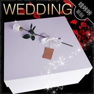 高档拖尾婚纱<span class=H>包装盒</span>结婚礼服西服礼盒超大礼物盒鲜花盒创意礼品盒