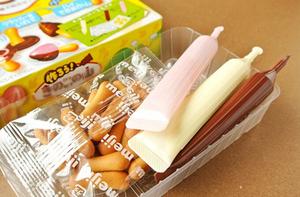日本食玩进口零食明治Meiji自制蘑菇山<span class=H>DIY</span>食玩手工<span class=H>巧克力</span>饼干糖果