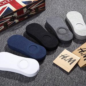 船袜男短袜隐形夏季浅口超薄款夏天硅胶防滑透气低帮纯棉防臭吸汗