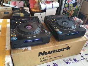 二手dj设备打碟机先锋DVJ1000 CD DVD家用酒吧音视频搓盘打碟机