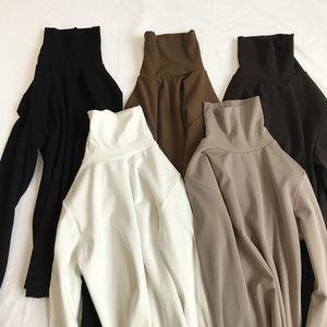 <span class=H>2018</span>新款秋冬尹淑怡同款上衣服金丝绒加绒长袖t恤女堆堆领打底衫