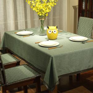 领3元券购买棉麻布艺餐桌布现代简约美式茶几布餐台布通用餐椅垫椅套椅背套