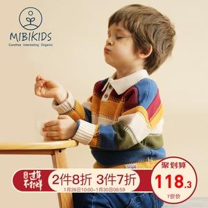 A类品质!儿童毛衣保暖翻领羊毛衫