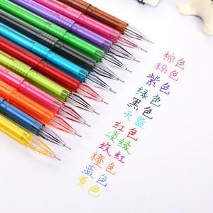家用创意文具钻石笔头彩色中性笔 可爱小清新水笔记号笔12支装