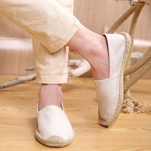 复古中国风<span class=H>男鞋</span>白色休闲鞋防臭社会禅意夏天低帮懒人春夏季渔夫亚