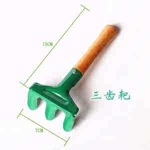彩艺三件套<span class=H>工具</span>儿童小孩挖沙玩具海滩色铲耙锹园玩沙子铁<span class=H>铲子</span>铁桶