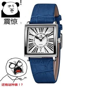 国产品牌<span class=H>手表</span>石英电子时尚流行腕表真皮表带单日历超薄女士<span class=H>手表</span>