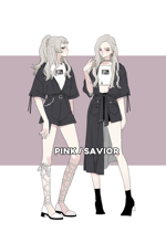 PINKSAVIOR Colony Fission Pin Shirt Half Skirt Girl Suit