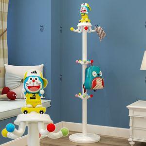 儿童<span class=H>衣帽架</span>落地卡通可爱衣架简约现代挂衣架创意卧室小孩衣服架子