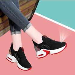 内增高<span class=H>女鞋</span>夏季2019新款透气运动鞋女士休闲鞋旅游鞋网鞋网面<span class=H>鞋子</span>