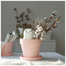 WOOKEN Morandi Pink Clay Flower Pot, Warm Oil, Xanthan Creation Suspension Pot, Nordic Home Decoration