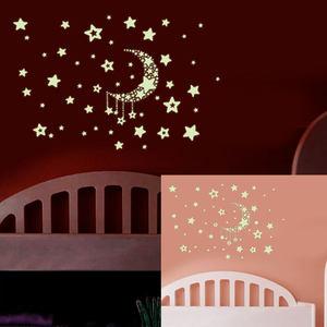 繁星点点墙贴纸卡通儿童房背景贴画卧室床头装饰夜光贴荧光贴壁贴