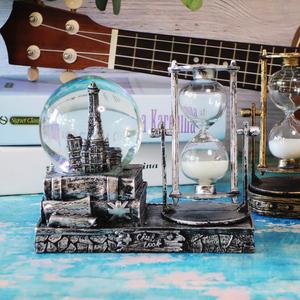 沙漏计时器水晶球客厅摆件儿童家居装饰品创意酒柜卧室时间小摆设