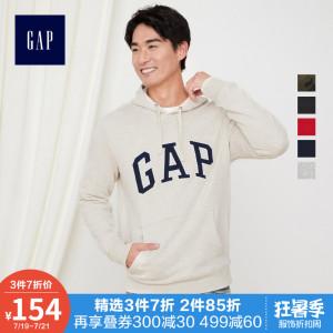Gap<span class=H>男装</span>连帽套头<span class=H>卫衣</span>运动衫444145 E 2019新款情侣装男士logo上衣