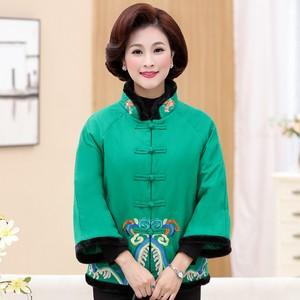 妈妈装冬装棉袄中老年女装中国风棉衣时尚短款<span class=H>棉服</span>大码唐装女外套