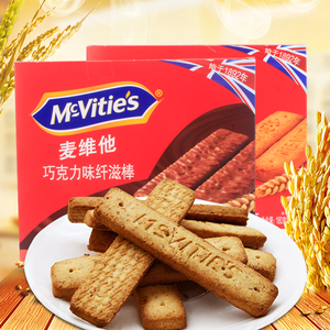 麦维他纤滋棒180g 英国进口全麦消化饼原味<span class=H>巧克力</span><span class=H>燕麦</span><span class=H>饼干</span>零食品