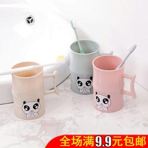 塑料卡通洗漱杯创意带手柄儿童刷牙杯情侣牙缸杯子牙刷杯<span class=H>漱口杯</span>