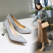 Fan Mai Fine-heeled Single Shoes Spring 2019 New Korean Version Baitao High-heeled Women's British Style Fashion Tip-top Women's Shoes
