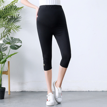 Huaitai Pregnant Women's Summer 2019 New Seven-point Bottom Pants, High waist and abdomen, Summer Pants 82665