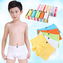 Five Boys'Flat Pants, Underwear, Pure Cotton Boys, Adolescents, Children and Babies' Quartet Shorts
