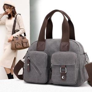 <span class=H>包包</span>女2018新款韩版帆布包女包大容量简约时尚女士手提单肩斜挎包