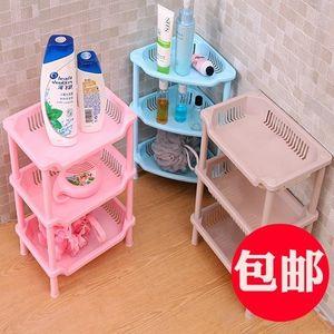 小号三角<span class=H>置物架</span>厨房浴室卫生间三层架角架塑料收纳架化妆品整理架