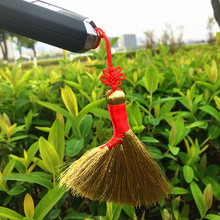 Sorghum seedling broom mini-baby bedside sleeping car decoration broom hanging broom