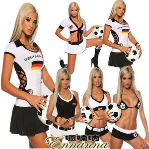 德国队足球宝贝服世界杯啦啦队足<span class=H>球衣</span>女装啦啦队ds酒吧演出服新款