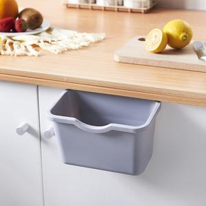 厨房橱柜门式可挂式小号垃圾桶家用无盖塑料收纳盒壁挂篓桌面悬挂