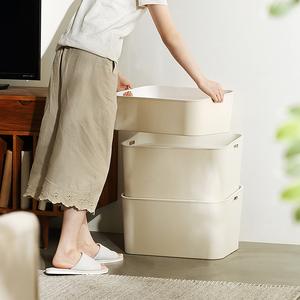 加厚收纳箱大号抽屉杂物整理箱子有盖塑料衣物储物箱收纳盒62801