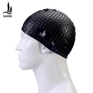 三奇内颗粒长发防水泡泡硅胶<span class=H>泳帽</span>大号成人男女款时尚游泳运动装备