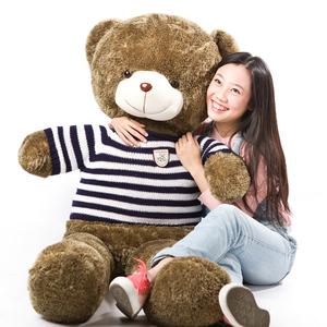 泰迪熊毛衣熊毛绒玩具熊大号<span class=H>玩偶</span>公仔布娃娃生日礼物穿衣熊抱抱熊