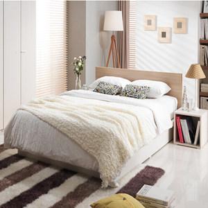 现代简约时尚<span class=H>板式床</span>环保可定做双人床日式双人床家具定制特价正品